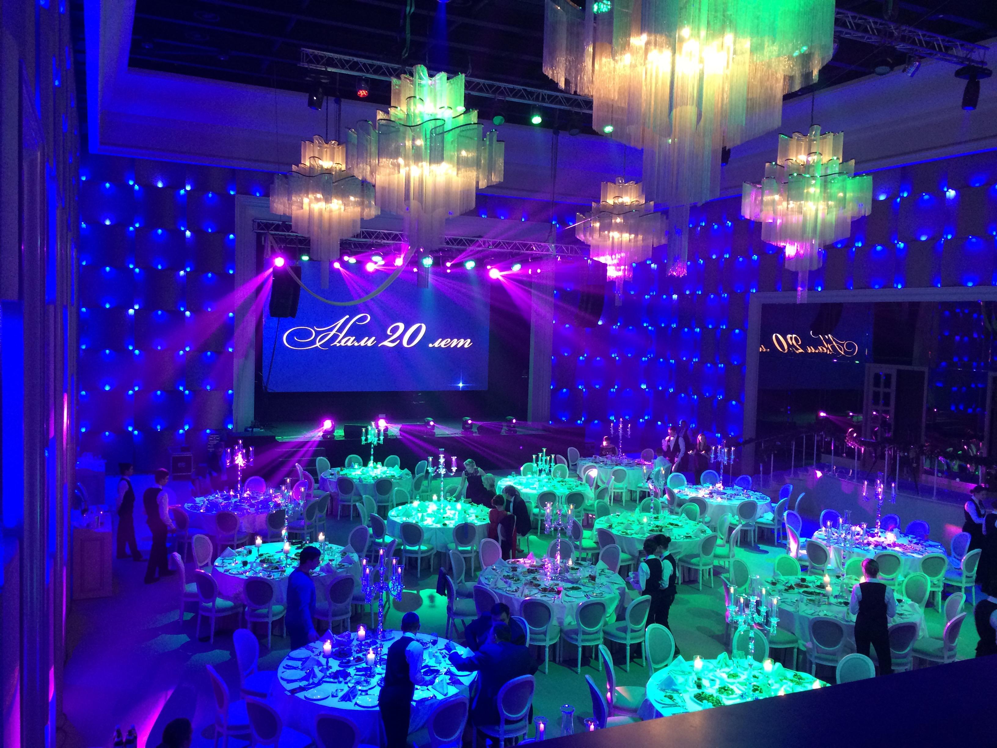 Студия света «Квинсленд» — Цвето-динамическая подсветка банкетного зала REGENT HILL